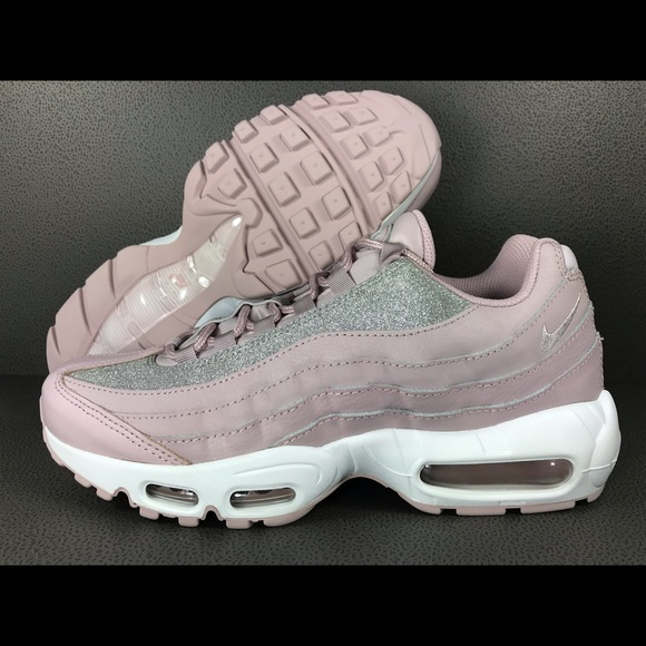 "Nike Air Max 95 SE ""Glitter�?Pink Women's 9.5 NEW"